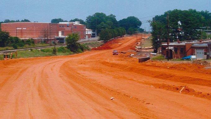 Calhoun Falls SC Hwy 72 – During Construction
